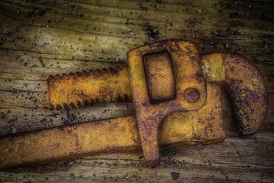 Photograph - Rusty Pipe Wrench by Garry Gay