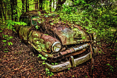 Photograph - Rusty Plymouth by Debra and Dave Vanderlaan