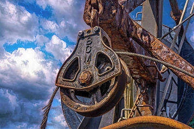 Photograph - Rusty Pulley by Bill Posner