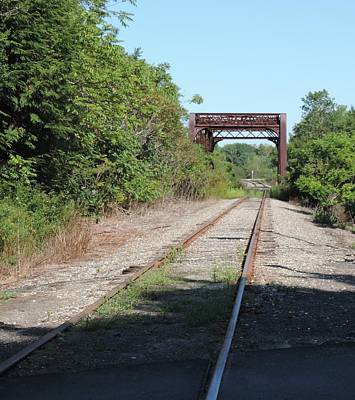 Photograph - Rusty Rails And Bridge by Bill Tomsa