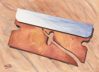 Painting - Rusty Razor by Ken Powers