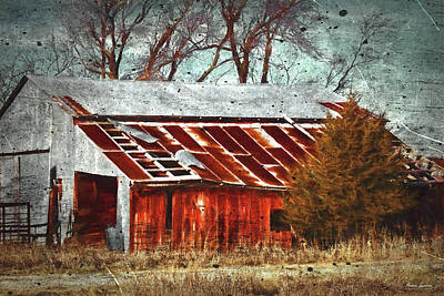 Photograph - Rusty Red Barn by Anna Louise