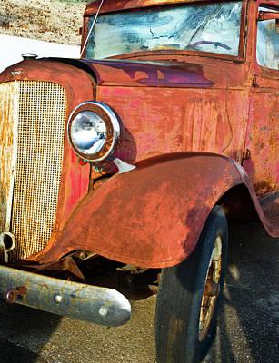 Rusty Red Chevrolet Pickup Truck 1934 Art Print by Douglas Barnett