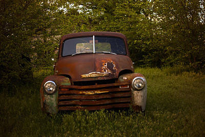 Old Trucks Photograph - Rusty Red Chevy by Toni Hopper
