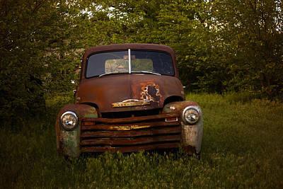 Rusty Red Chevy Art Print