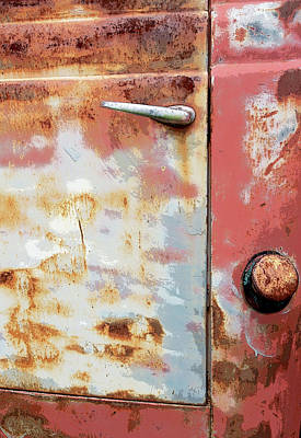 Junk Yard Painting - Rusty Red by Glennis Siverson