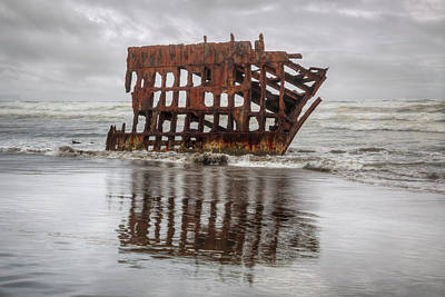 Peter Iredale Photograph - Rusty Reflections by Kristina Rinell
