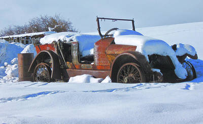 Photograph - Rusty Relic In Winter by David King