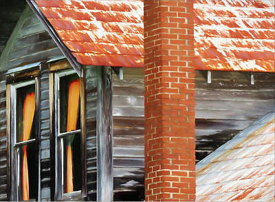Photograph - Rusty Roof-painted by Ericamaxine Price