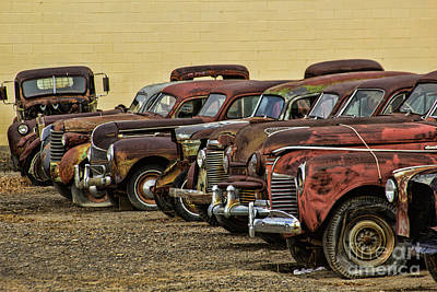 Photograph - Rusty Row by Steven Parker