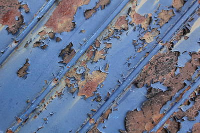 Rusty Sheet Metal Art Print by Michel Poulin