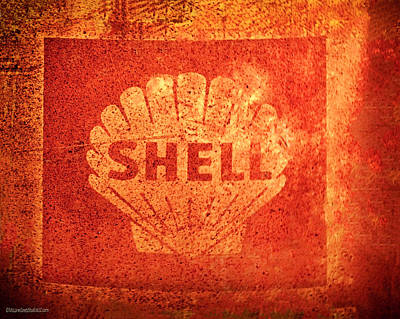 Photograph - Rusty Shell Oil Sign by LeeAnn McLaneGoetz McLaneGoetzStudioLLCcom