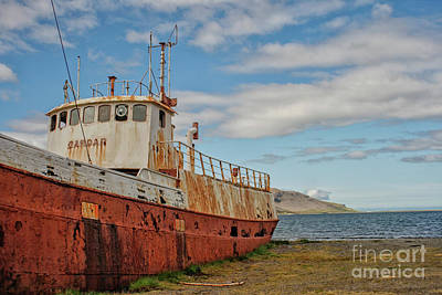 Photograph - Rusty Shipwreck In Iceland by Patricia Hofmeester