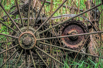 Photograph - Rusty Spokes by Trey Foerster