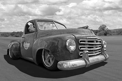 Photograph - Rusty Studebaker In Black And White by Gill Billington