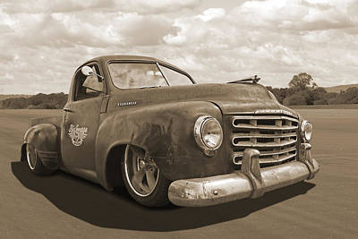 Photograph - Rusty Studebaker In Sepia by Gill Billington