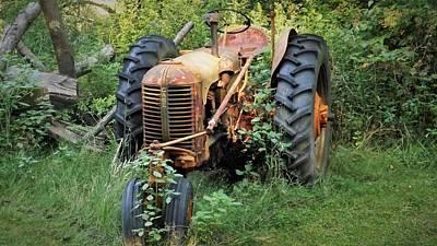 Rusty Tractor 3  Art Print