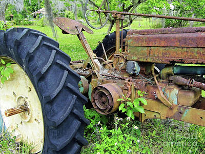 Photograph - Rusty Tractor In The Weeds by D Hackett