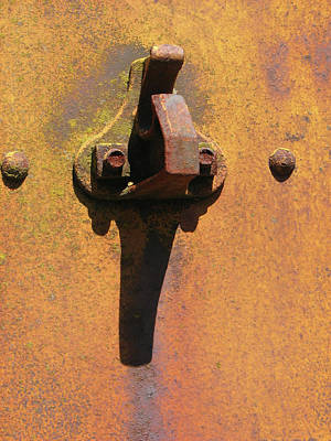 Still Life Photograph - Rusty Train Spot Iv by Helaine Cummins