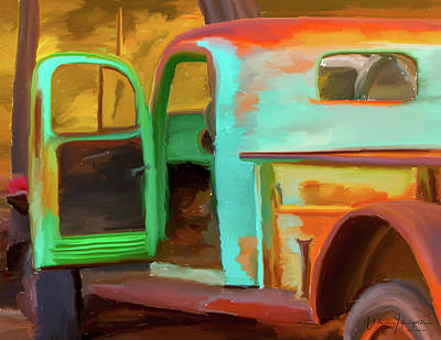 Painting - Rusty Truck 01 by Wally Hampton