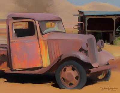 Painting - Rusty Truck 02 by Wally Hampton