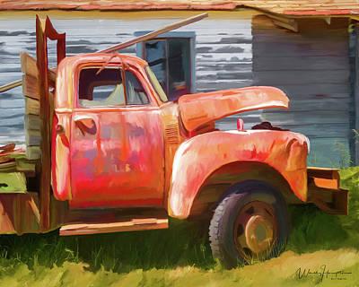 Painting - Rusty Truck 03 by Wally Hampton