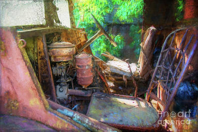 Photograph - Rusty Truck Cabin by Stuart Row