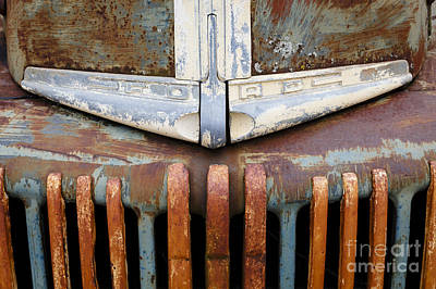 Antique Ford Truck Grill Photograph - Rusty Truck by Dennis Hedberg