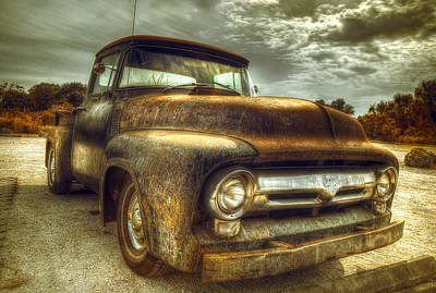 Transportation Photograph - Rusty Truck by Mal Bray