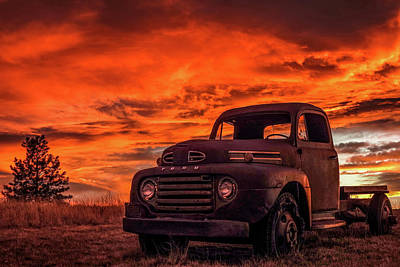 Photograph - Rusty Truck Sunset by Dawn Key