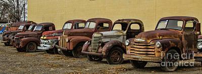 Photograph - Rusty Trucks by Steven Parker