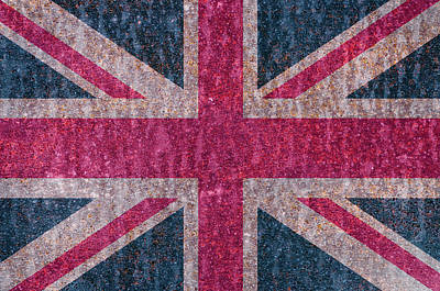 Photograph - Rusty Uk Flag by Paulo Goncalves