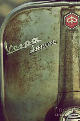 Scooter Photograph - Rusty Vespa by MingTa Li