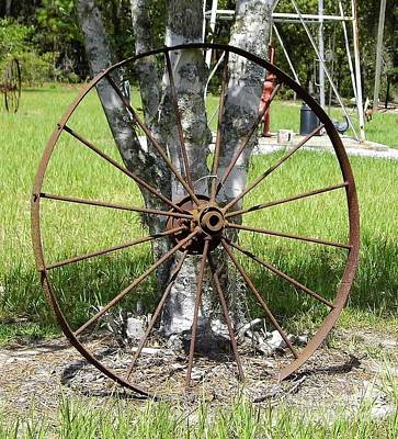Photograph - Rusty Wheel by D Hackett
