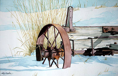 Rusty Wheel Original by Jim Gerkin
