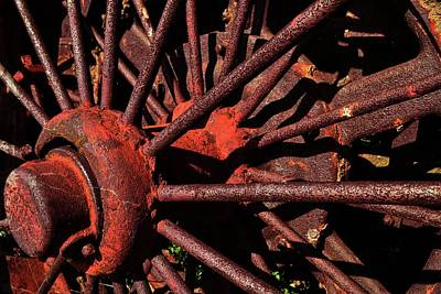 Technical Photograph - Rusty Wheel by Michelle Calkins