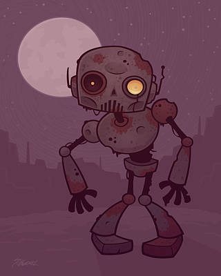 Royalty-Free and Rights-Managed Images - Rusty Zombie Robot by John Schwegel