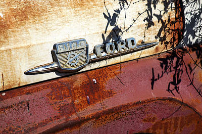 Photograph - Rusty's Ford F 100 by Allen Carroll
