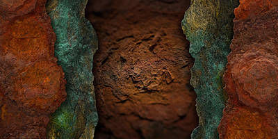 Photograph - Rust Landscape 5 by WB Johnston