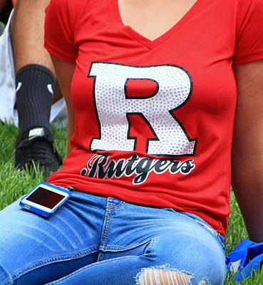 Photograph - Rutgers Block R # 7 by Allen Beatty
