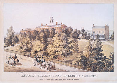 Photograph - Rutgers College In New Brunswick New Jersey 1849 by Ricky Barnard