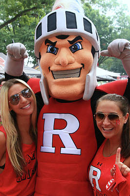Photograph - Rutgers Scarlet Knight Mascot # 2 by Allen Beatty