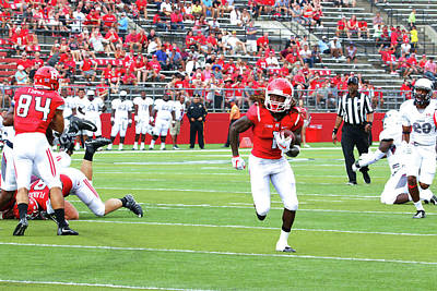Photograph - Rutgers Touchdown - Janarion Grant # 2 by Allen Beatty