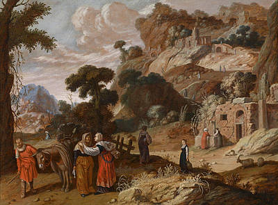 Ruth Painting - Ruth Decides To Go To Bethlehem With Naomi by Jacob Pynas