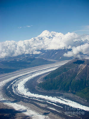 Denali National Park Photograph - Ruth Glacier Looking At Denali by Dora Miller