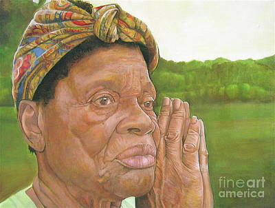 Elderly People Painting - Ruth II by Curtis James