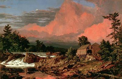 Rutland Painting - Rutland Falls Vermont by Frederick Edwin Churc