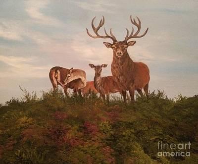 Painting - Rutting Season by Jean Walker