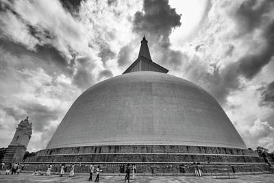 Art Print featuring the photograph Ruwanwelisaya, Anuradhapura, 2012 by Hitendra SINKAR