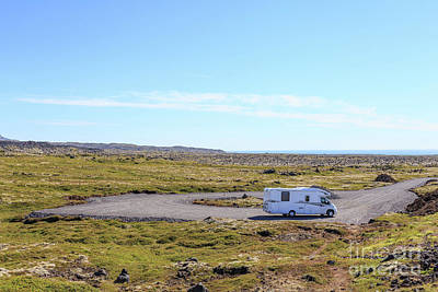 Photograph - Rv Motorhome In A Remote Location In Iceland by Edward Fielding